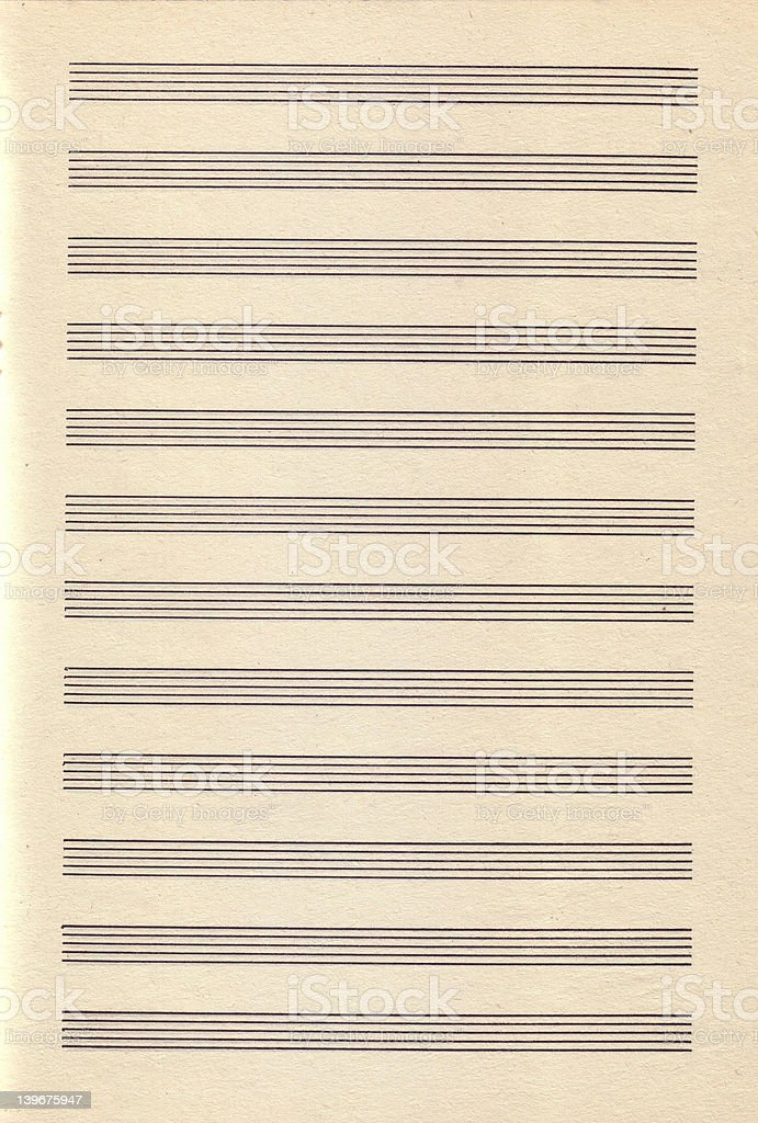 Vintage Paper Sheet Music royalty-free stock photo