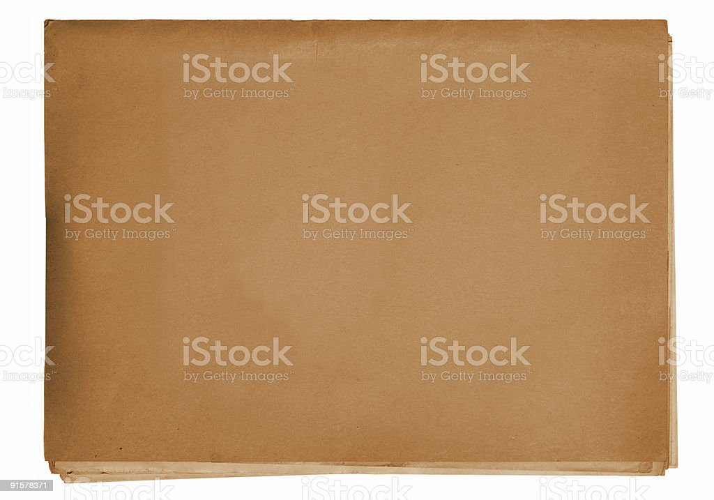 vintage paper stack stock photo