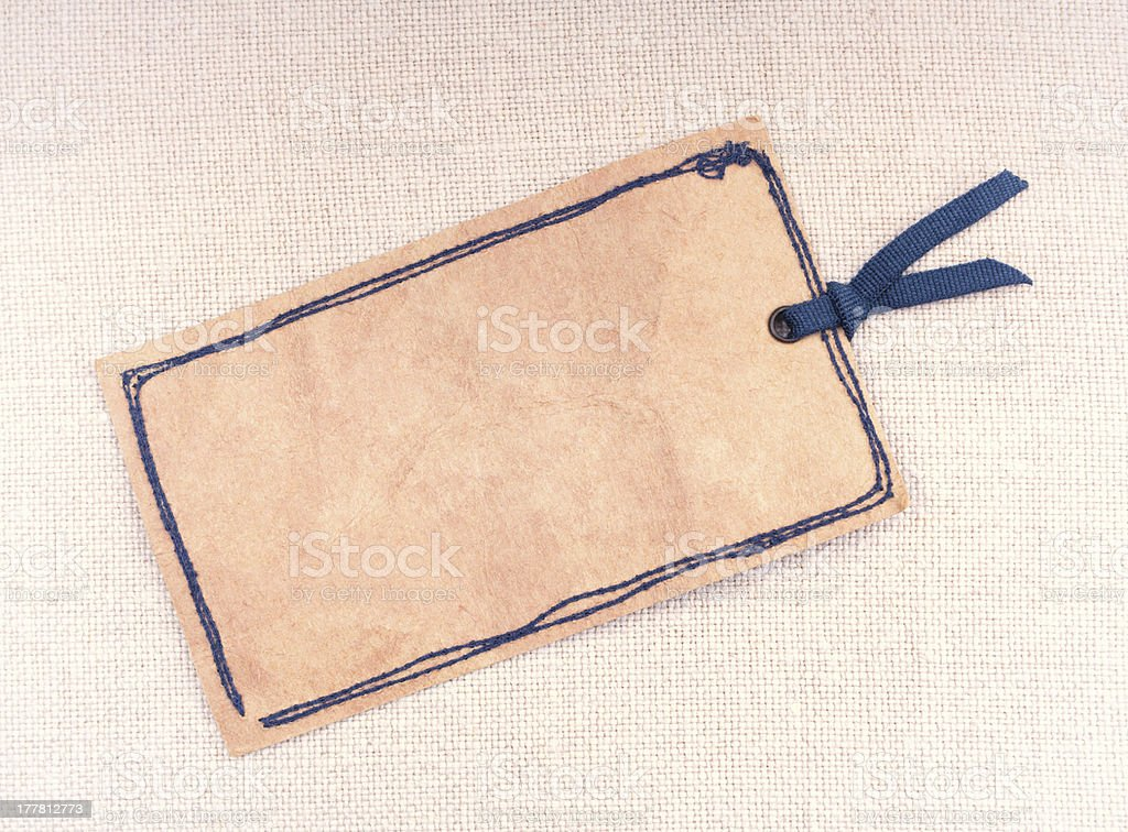 Vintage paper tag royalty-free stock photo