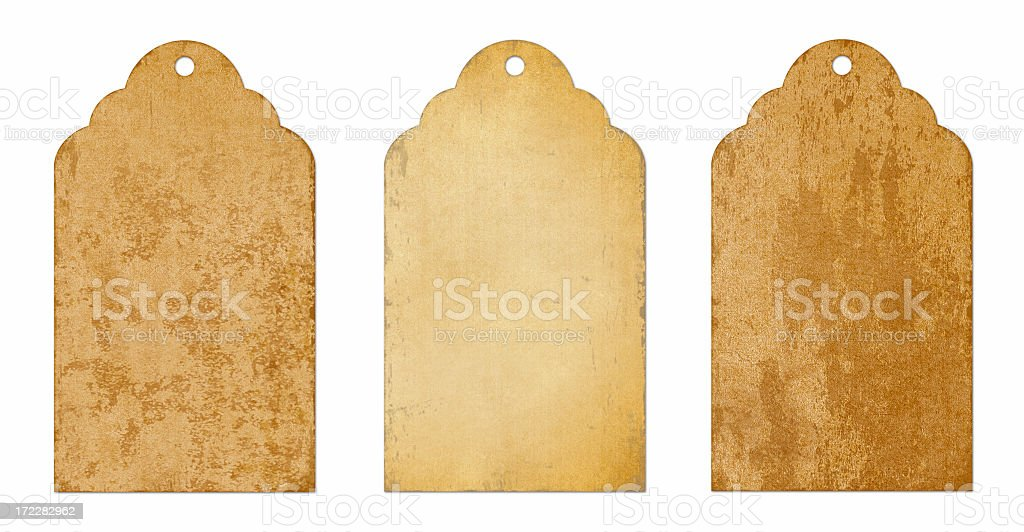 Vintage paper tags and labels royalty-free stock photo