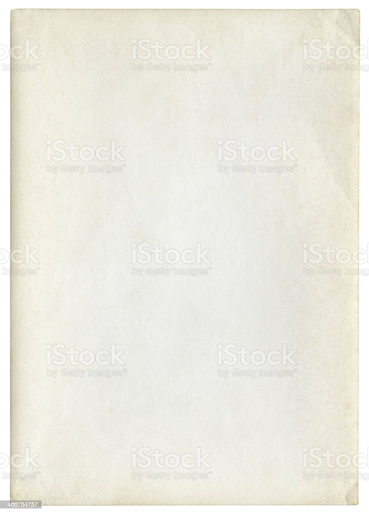 A vintage paper texture with a clipping path included  royalty-free stock photo