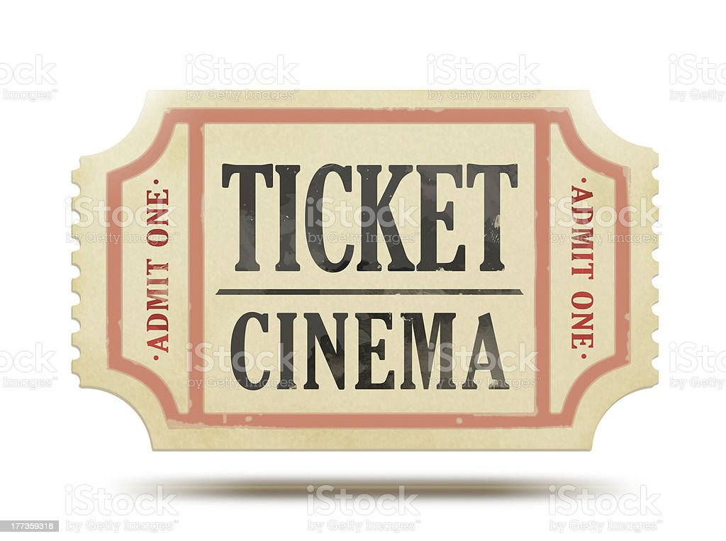 Vintage paper ticket royalty-free stock photo