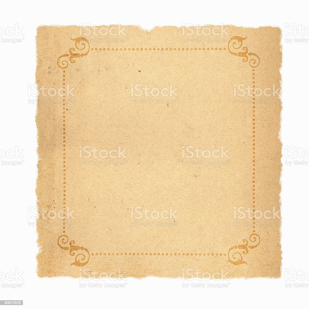 Vintage Paper w/ Border royalty-free stock photo