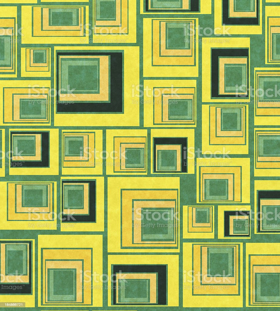 vintage paper with 60's style pattern royalty-free stock photo