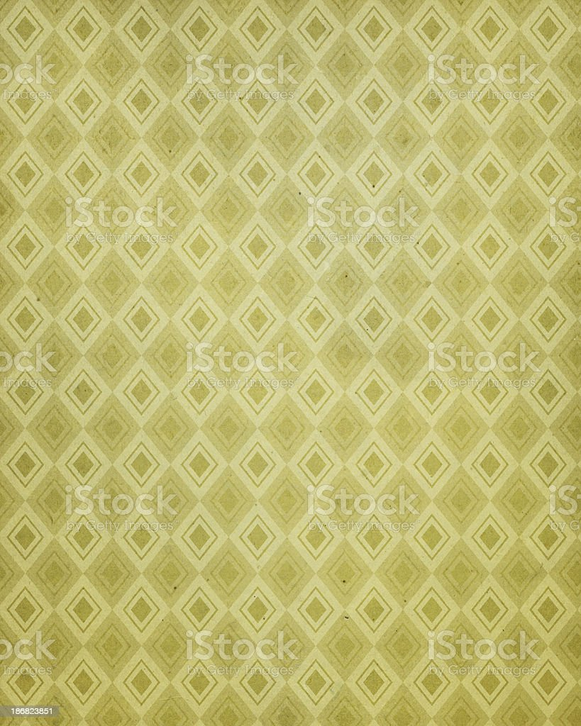 vintage paper with 60's style pattern stock photo