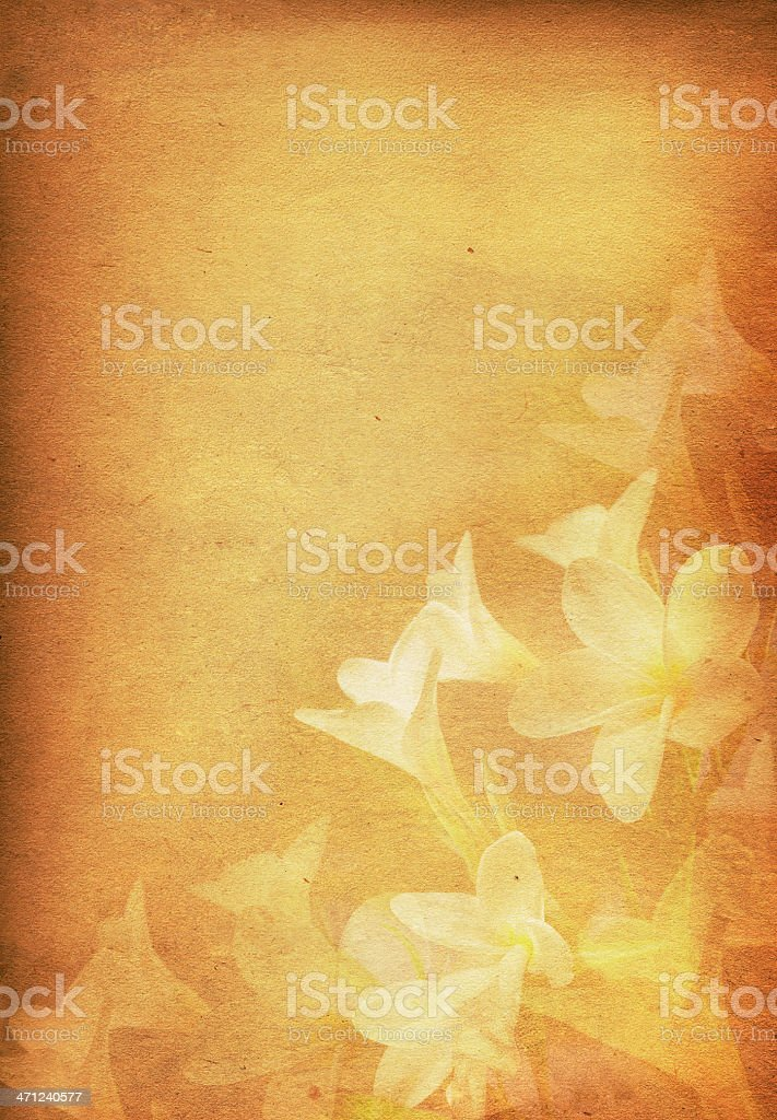 Vintage Paper with Floral Print royalty-free stock photo