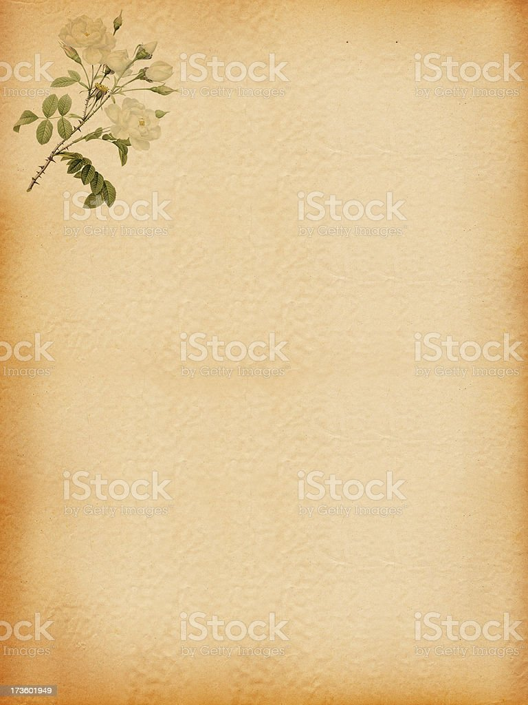Vintage paper with Flower Decoration royalty-free stock photo