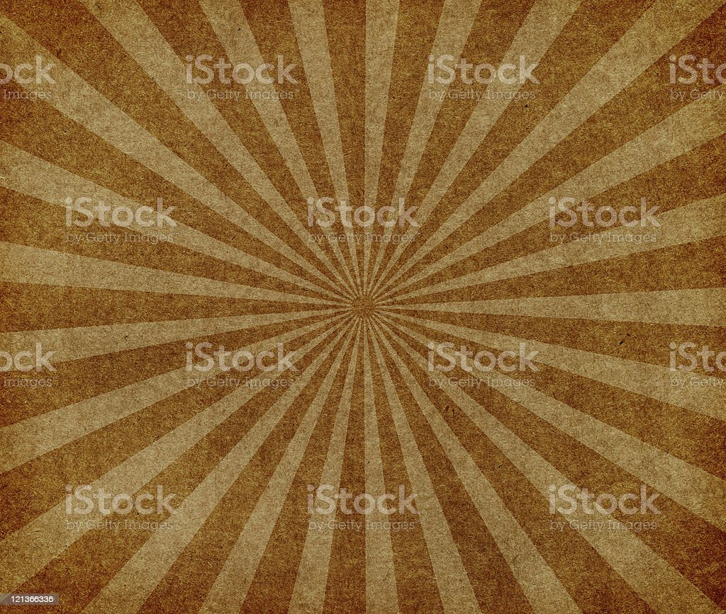 Vintage Paper with Grunge Starburst stock photo