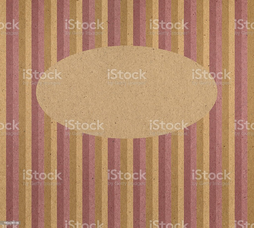 vintage paper with oval frame royalty-free stock photo