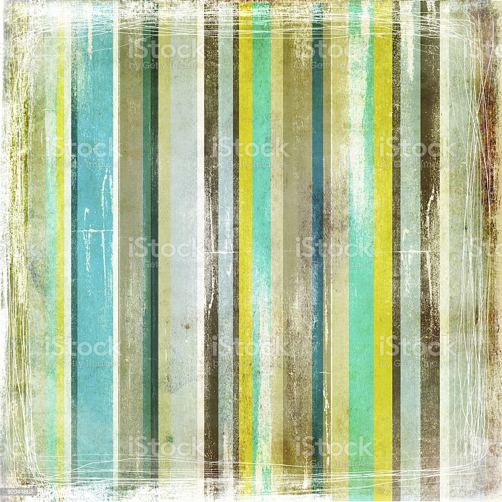 Vintage paper with shades of green stripes royalty-free stock photo