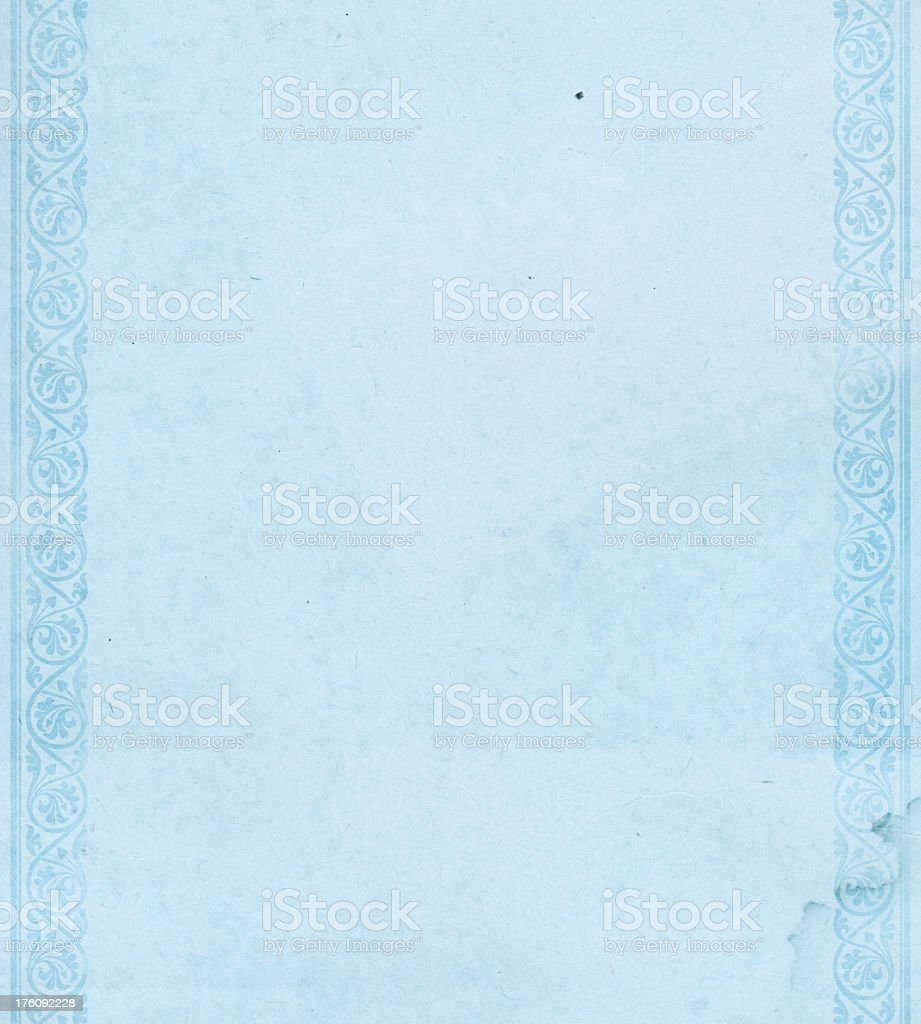 High resolution vintage paper with side border stock photo