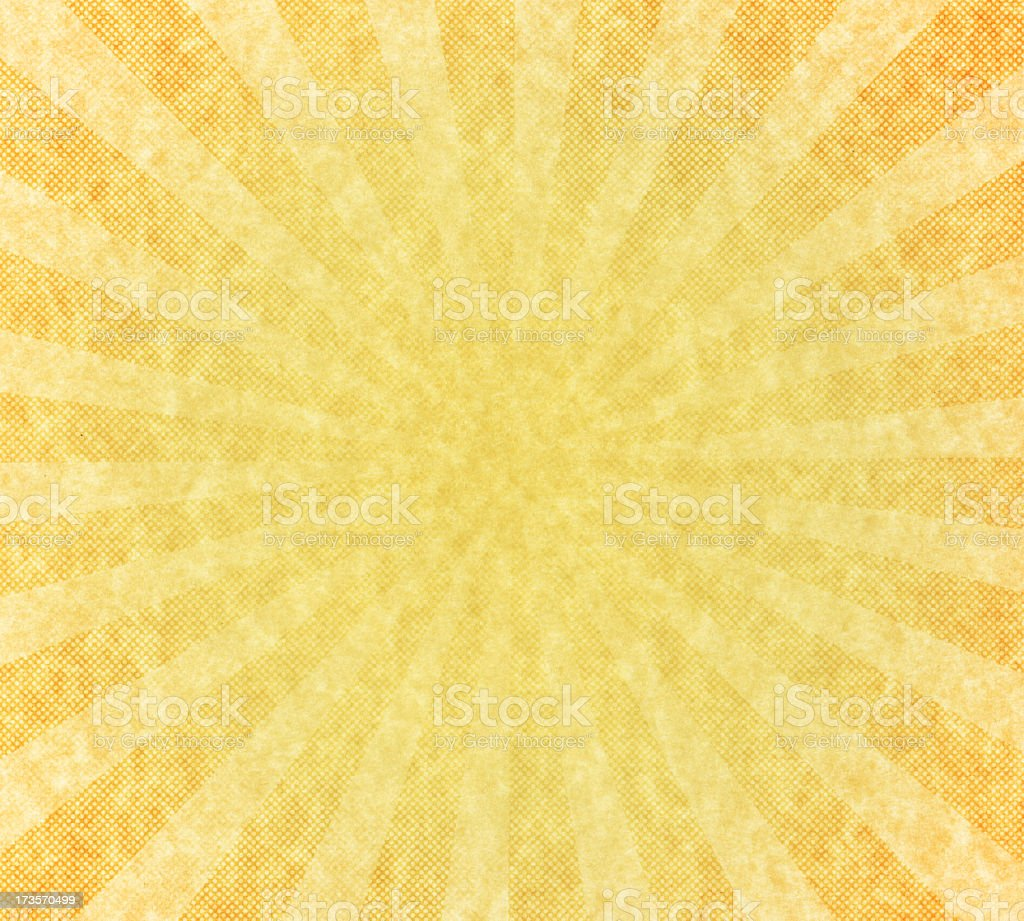 High resolution vintage paper with starburst stock photo