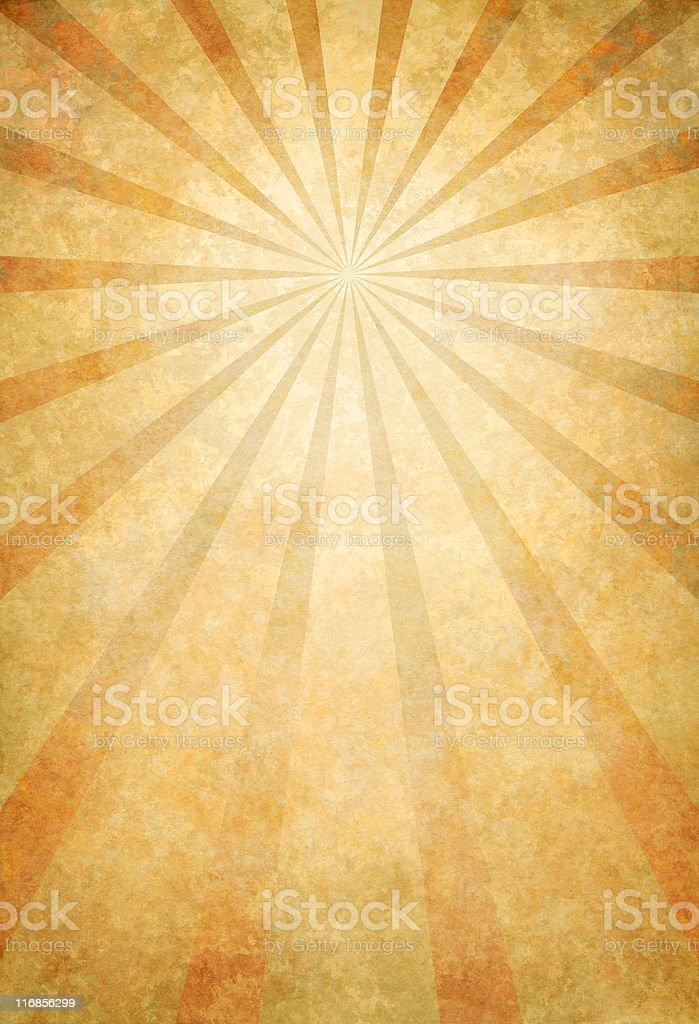 vintage paper with sunbeams royalty-free stock photo