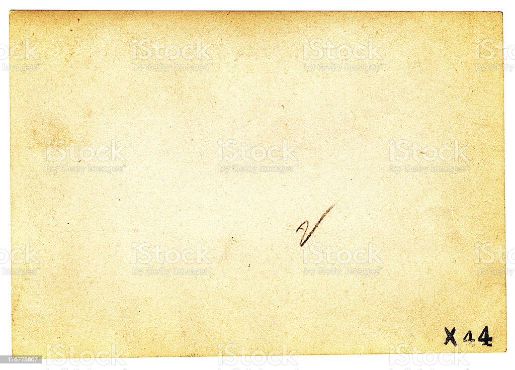 Vintage Paper with Writing royalty-free stock photo