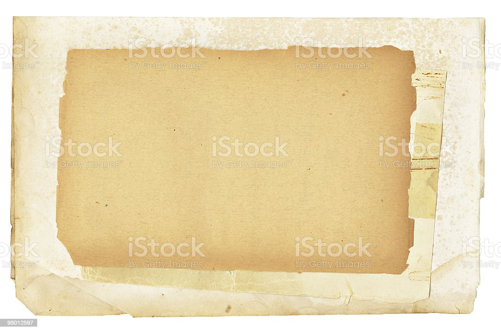 Vintage Papers Layered royalty-free stock photo