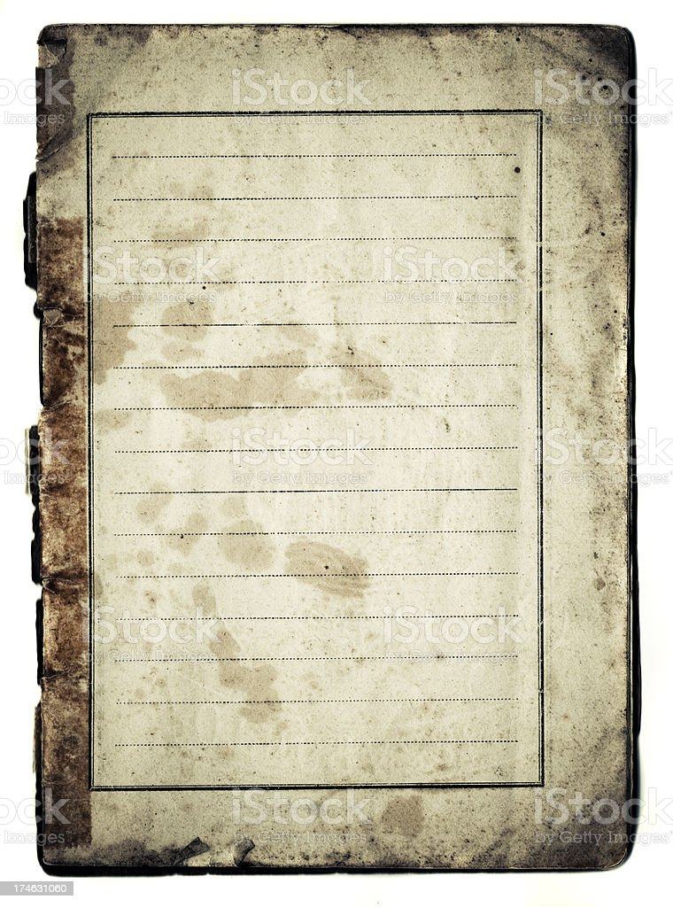 vintage passport page stock photo