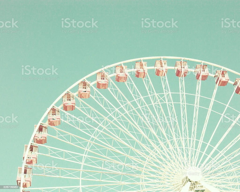 Vintage pastel ferris wheel stock photo
