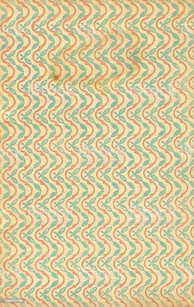 Vintage patterned paper royalty-free stock photo