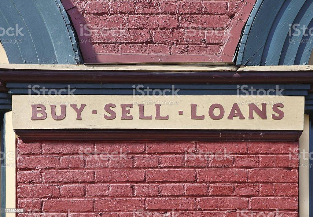 Vintage Pawn Shop stock photo