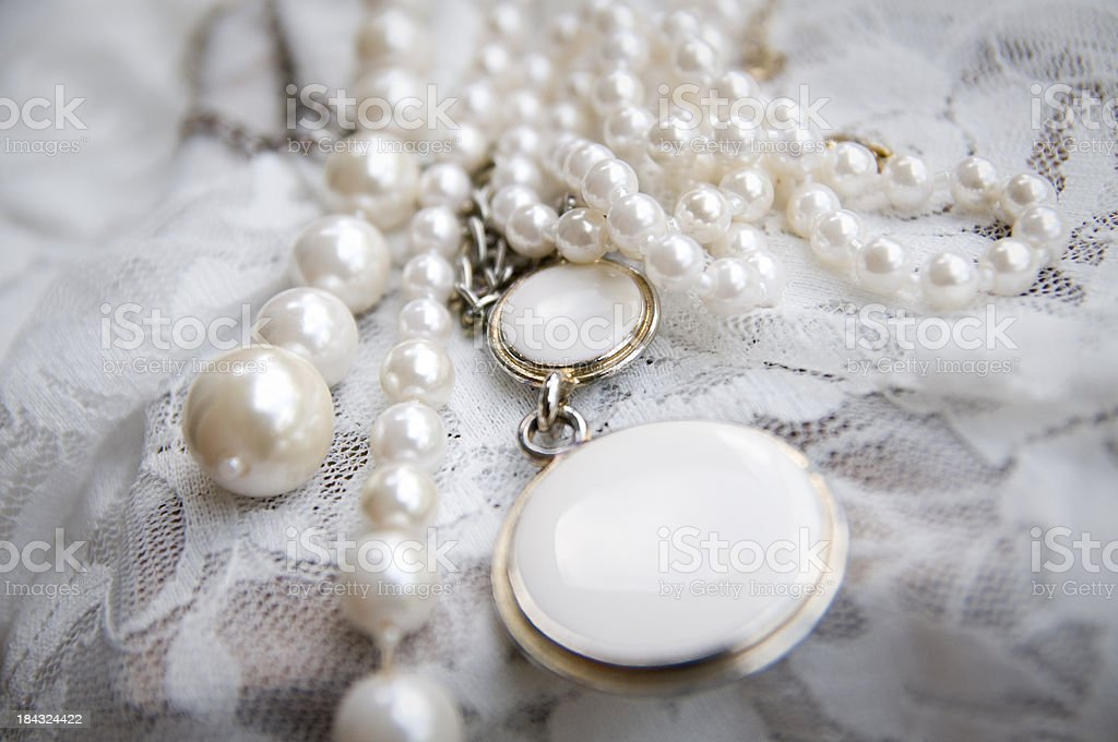 Vintage Pearl Jewelry royalty-free stock photo
