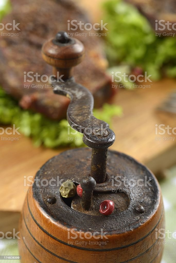 Vintage pepper mill royalty-free stock photo
