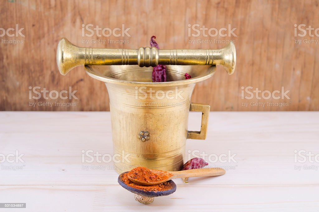 Vintage pepper mortar royalty-free stock photo