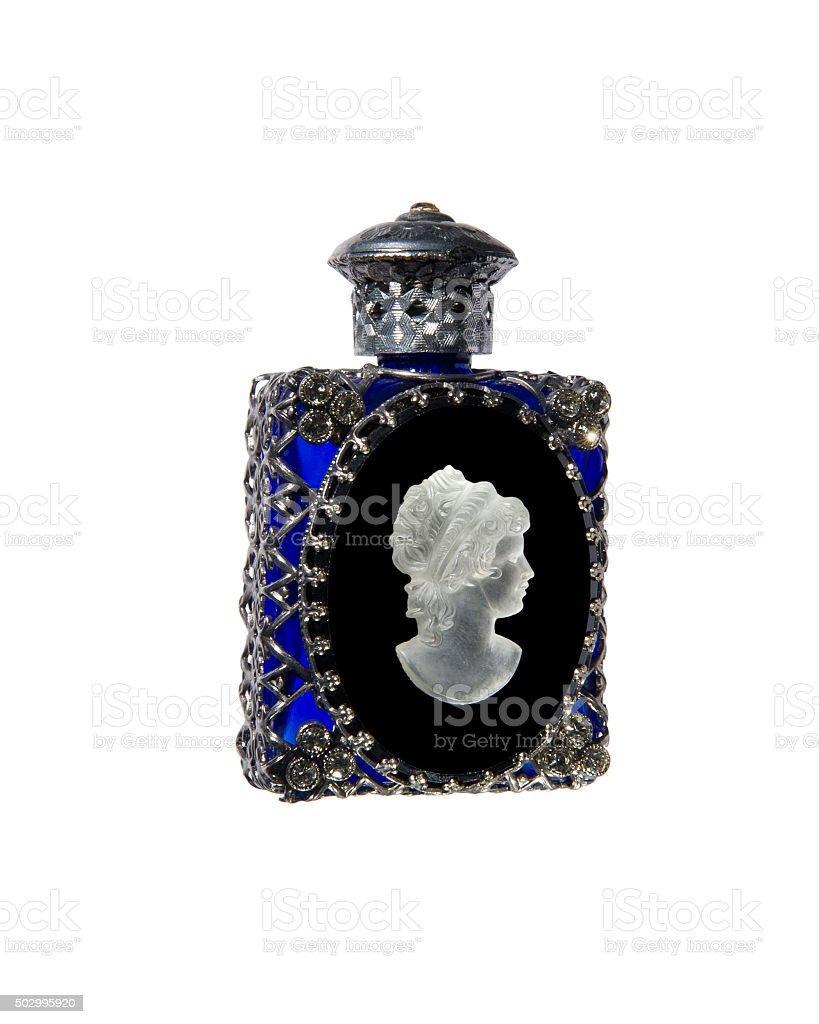 Vintage perfume vial stock photo