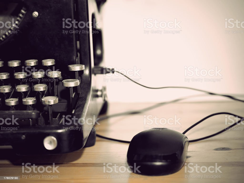 Vintage personal computer royalty-free stock photo
