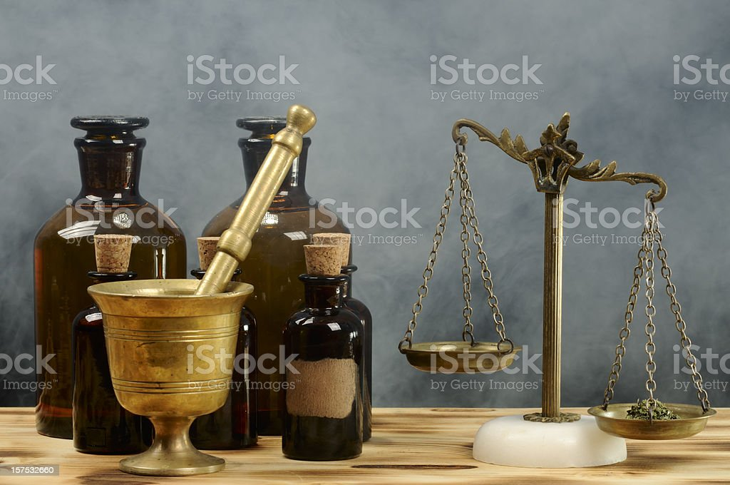 Vintage Pharmacy stock photo