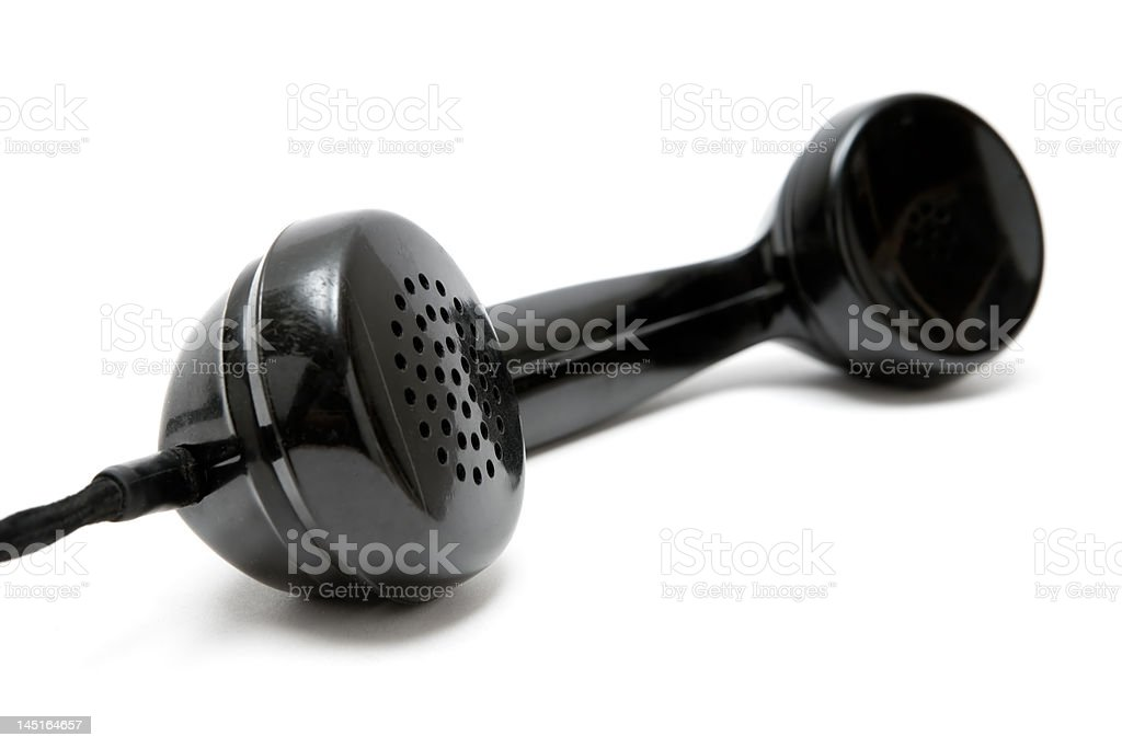 Vintage Phone Handset stock photo