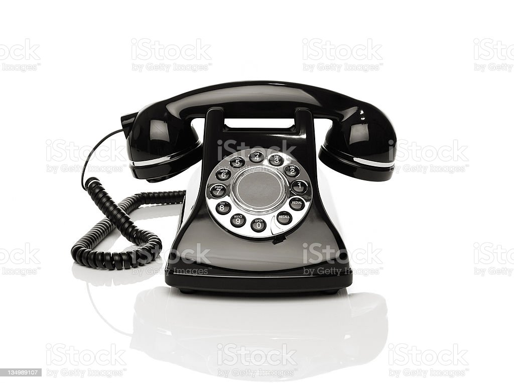 Vintage phone on white background royalty-free stock photo