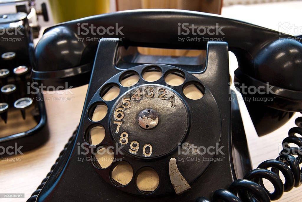 Vintage teléfono foto de stock libre de derechos