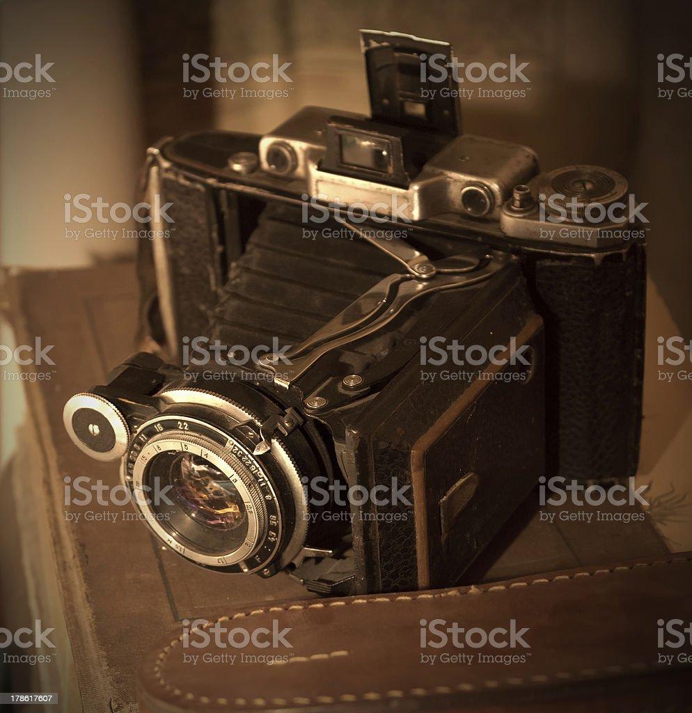 Vintage photo camera stock photo