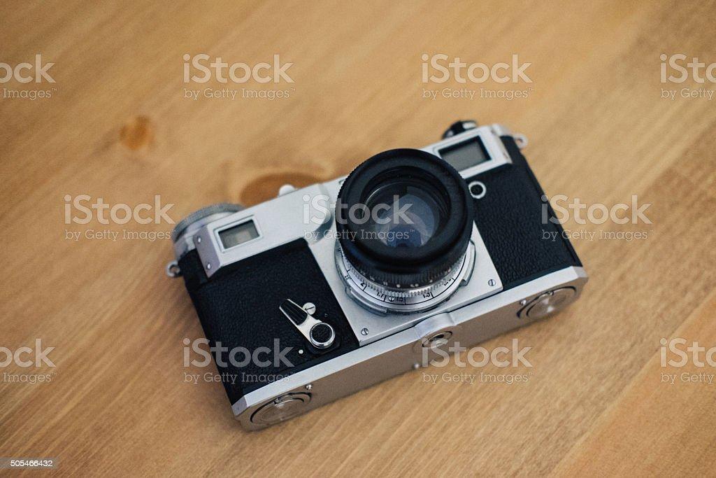 Vintage photo film camera stock photo
