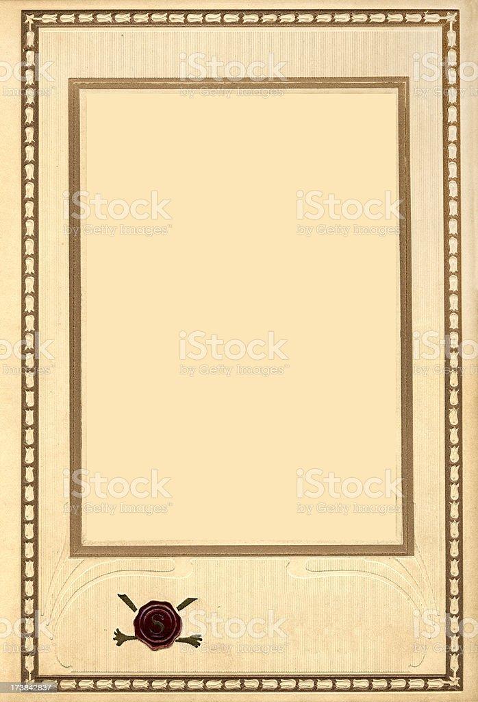 Vintage Photo Frame Mat royalty-free stock photo