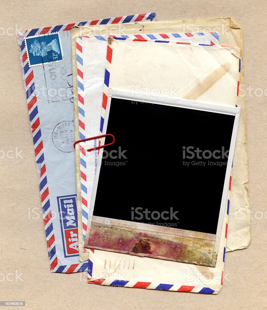 Vintage photo frame (XXXL) royalty-free stock photo