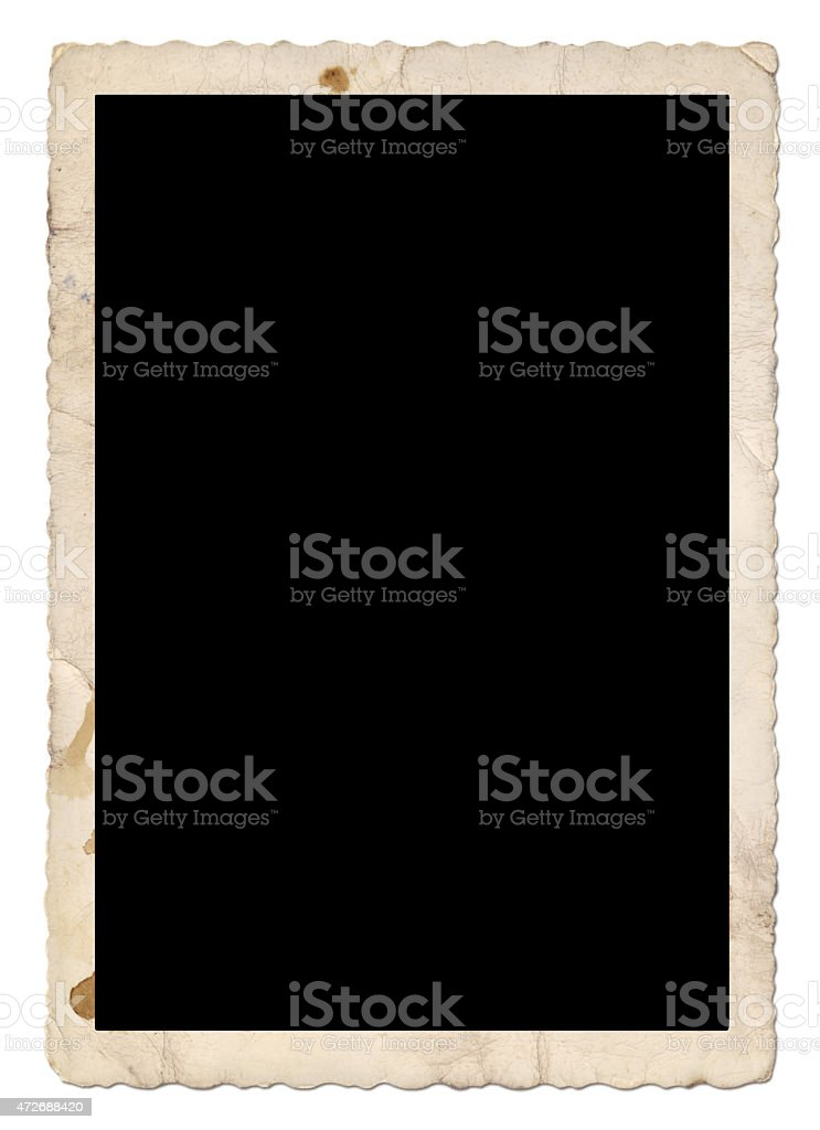 Vintage Photo Frame (with 2 paths) royalty-free stock photo