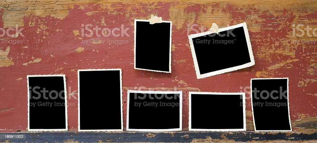 vintage photo frames, free space for your pix royalty-free stock photo