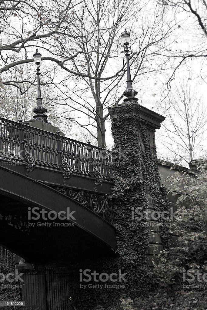 Foto d'epoca di un ponte sul Canale di Regent foto stock royalty-free
