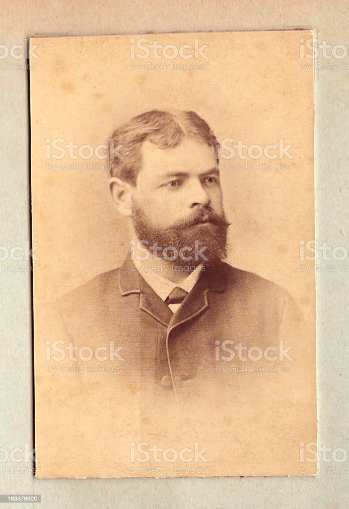 Vintage photo of a mature man stock photo