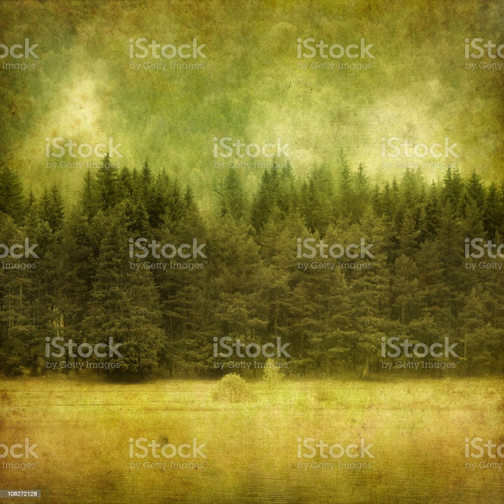 vintage photo of a mountain lake royalty-free stock photo