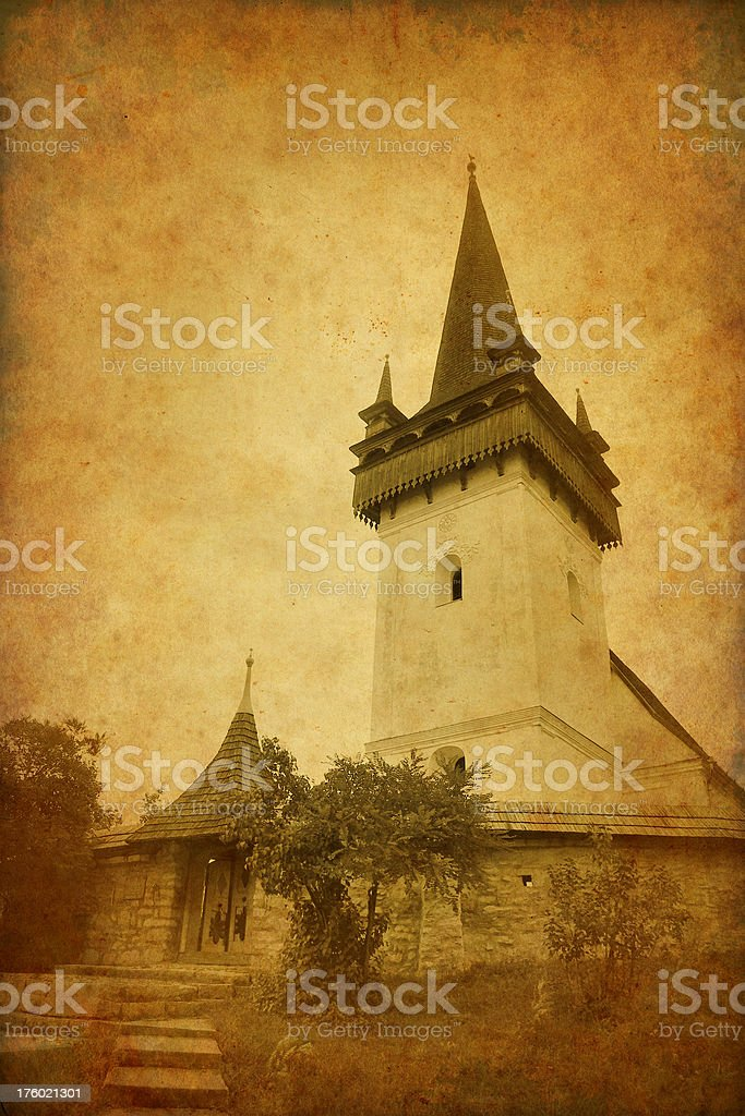 Vintage photo of a reformed church royalty-free stock photo