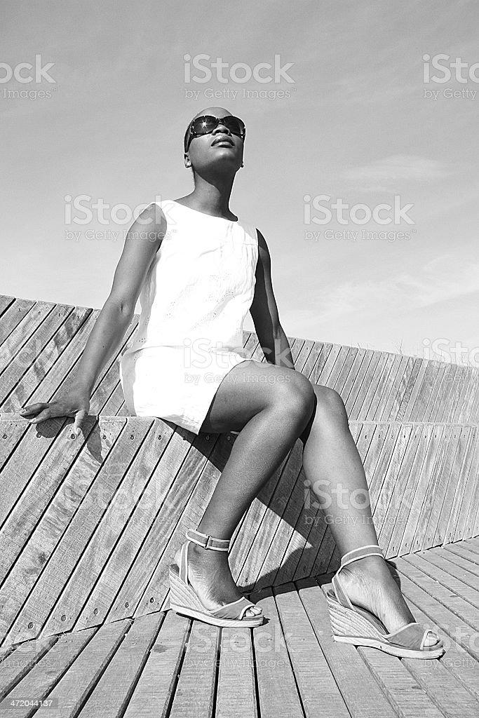 Fotografie Vintage di British ragazza in Sète, foto stock royalty-free