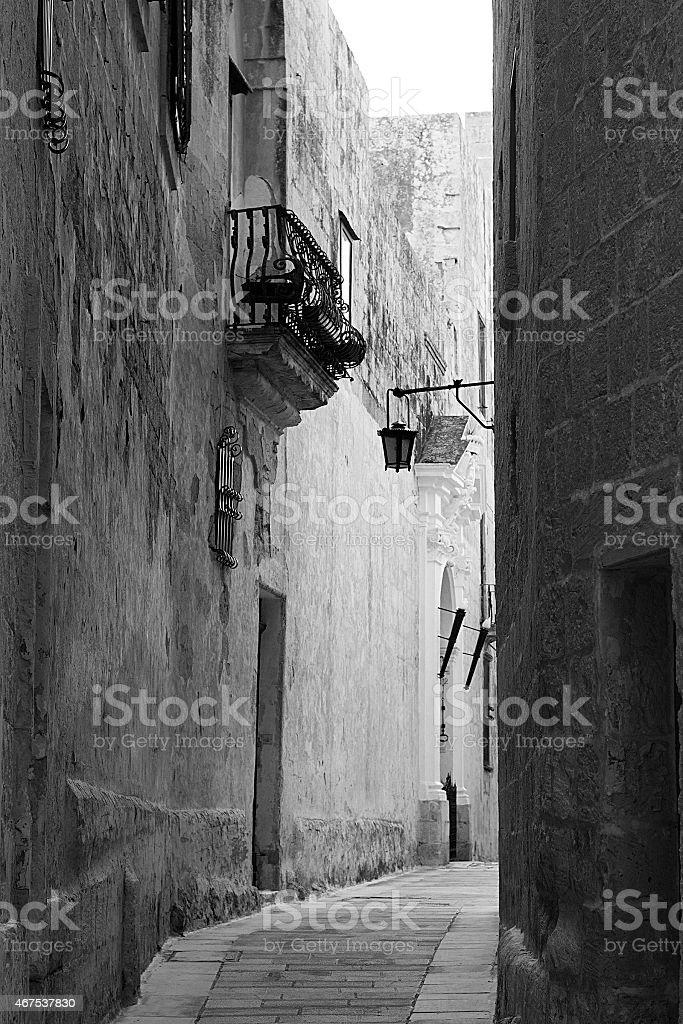 Fotografie Vintage di Mdina foto stock royalty-free