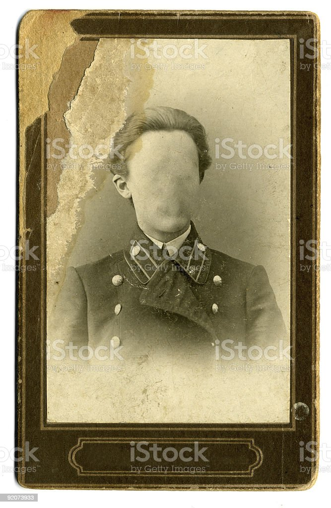 vintage photo of the Russian officer. 1918 royalty-free stock photo