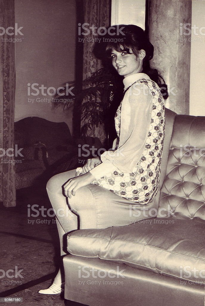 Vintage Photo: Young Woman stock photo