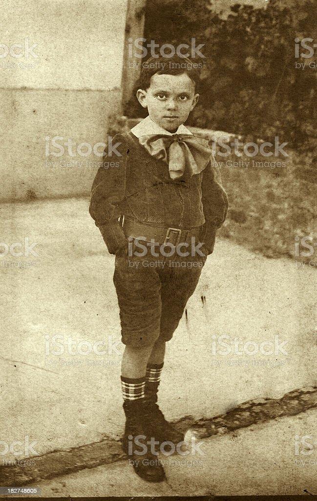 Vintage photograph Edwardian Boy stock photo