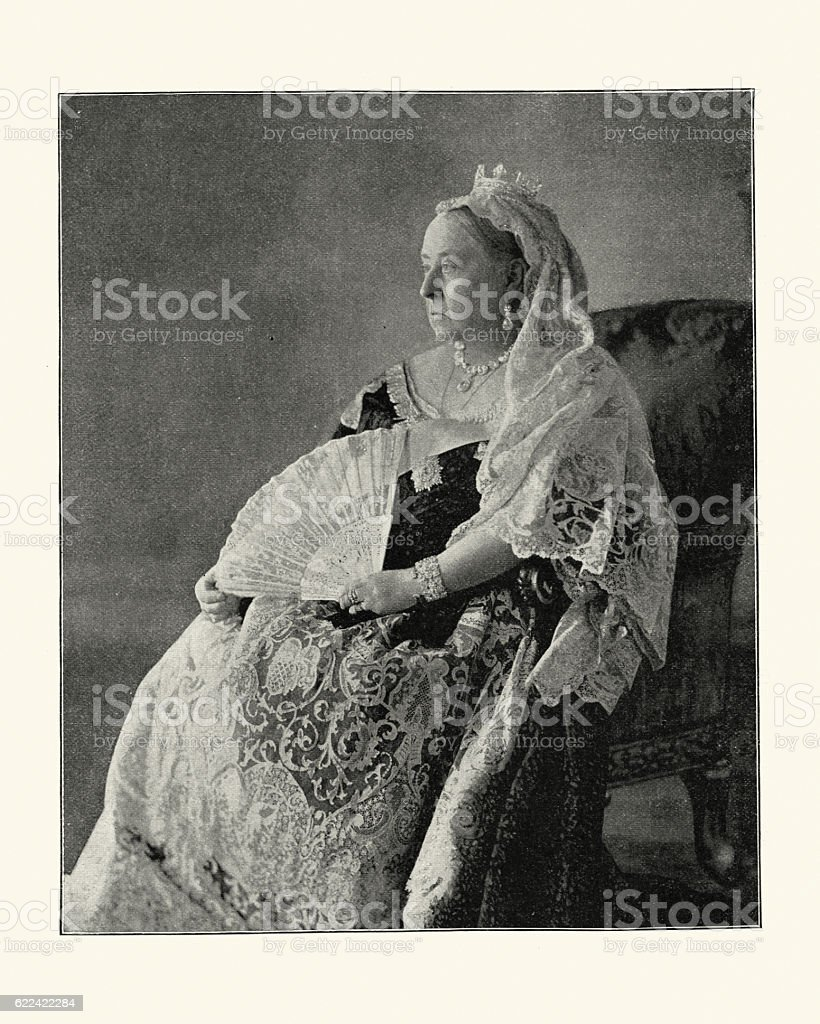 Vintage photograph of Queen Victoria, 1896 stock photo