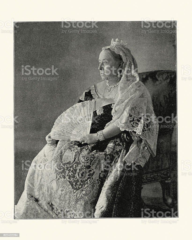 Vintage photograph of Queen Victoria, 1896 stock photo