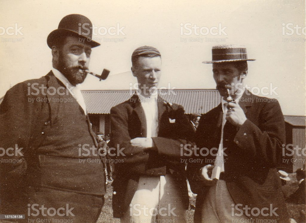 Vintage photograph Victorian Men stock photo